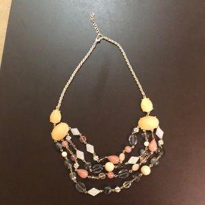 LOFT multi strand statement necklace